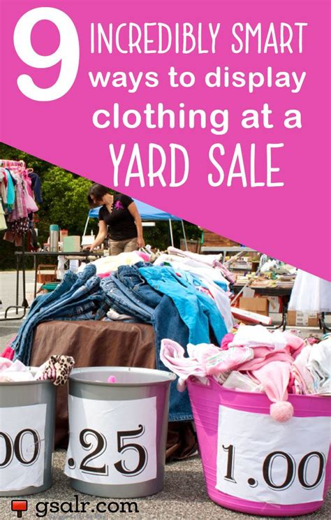 How To Price Clothes For A Garage Sale by Best 25 Yard Sale Displays Ideas On Hang