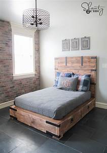 DIY Full or Queen Size Storage Bed - Shanty 2 Chic