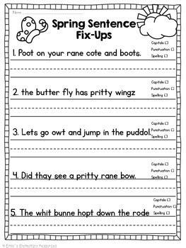 spring fling writing literacy activities  emilys