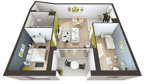 plan de maison 90m2 3d