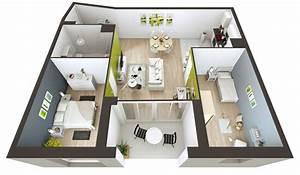plan maison 90m2 3d With creer maison 3d gratuit 1 une plan construction maison lhabis