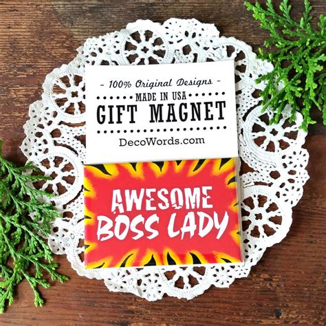 appreciation magnet awesome boss lady gift magnetic fun