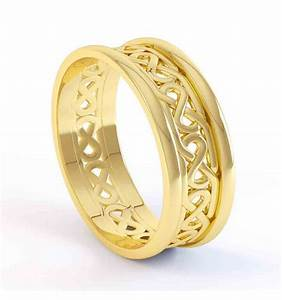 ladies gold celtic wedding band With ladies wedding rings gold