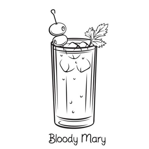bloody mary illustrations royalty  vector graphics