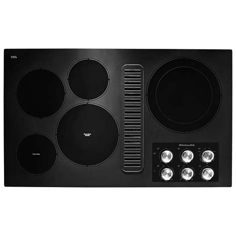 downdraft electric cooktop kitchenaid 36 in radiant electric downdraft cooktop in