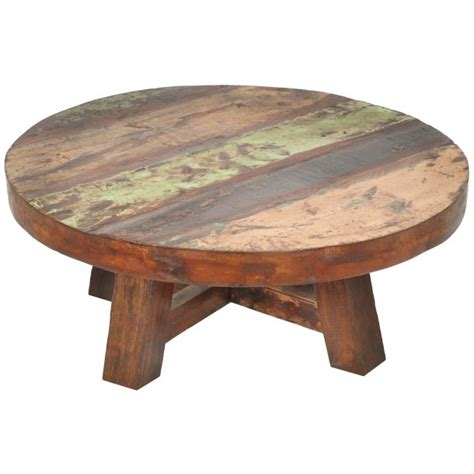 Make rustic round top coffee tables at home using upcycled wood and finish them with pedestal bases. 9 Diy Round Coffee Table Plans Inspiration