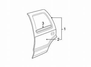Gmc Envoy Xl Door Window Belt Weatherstrip  Rear  Upper
