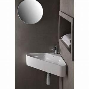 Lave Main Angle : lave main lave mains d 39 angle blanc en triangle en ~ Melissatoandfro.com Idées de Décoration