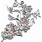 Tattoo Rose Transparent Drawing Line Flower Clipart