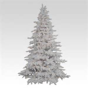 flocked white spruce full pre lit christmas tree walmart com