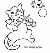 Coloring Diddle Hey Pages Fiddle Cat Clipart Template Clip Popular Library Coloringhome sketch template