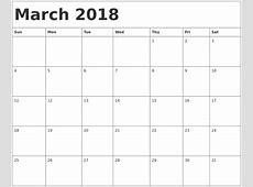 March 2018 Calendar Canada with Holidays Printable