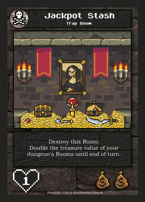 Inspired by classic video games, boss monster challenges you to become a villain, build a dungeon, lure adventurers, and destroy them! Jackpot Stash   Boss Monster the Dungeon-Building Card Game Wiki   FANDOM powered by Wikia