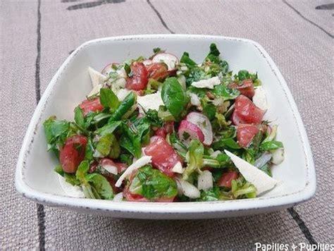 recette de cuisine libanaise fattouch ou fattouche salade libanaise au grillé et