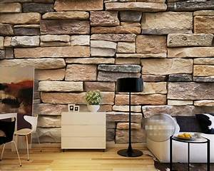 Beibehang Photo Wallpaper Modern 3d Bricks Modern Simple
