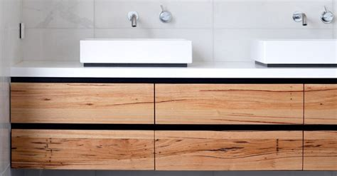 solid timber vanities bringing warmth   bathroom