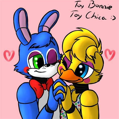 Toy Bonnie X Toy Chica By Purplemonstereyj On Deviantart