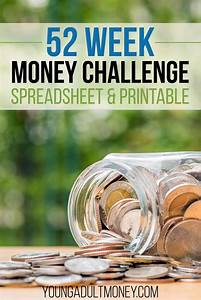 Easy Spreadsheet 52 Week Money Challenge Spreadsheet And Printable
