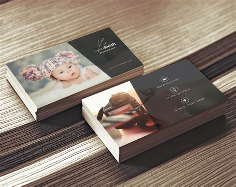 Photographer Business Card Template 2 Sided Photography Visiting Card Design Psd For Photographer Business Online And Printing Collectors Brighton Holder Desk Adobe Software Hanging Display Free Print At Home United Kingdom Etiquette