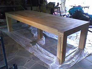 plan pour fabriquer une table de jardin en bois 5 photo014 With fabriquer une table a manger