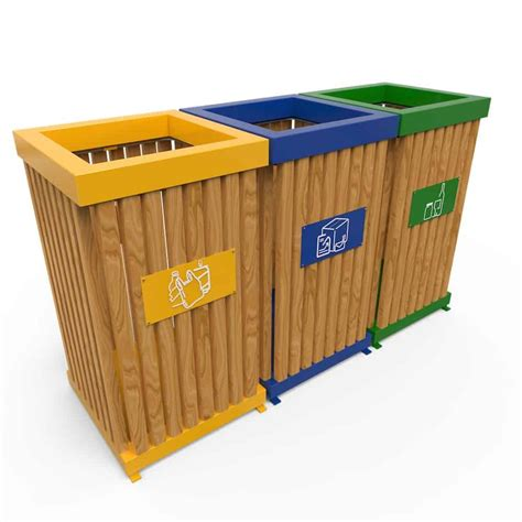 poubelle tri selectif exterieur boras poubelle d ext 233 rieur pour tri s 233 lectif en bois 50l 224 100l
