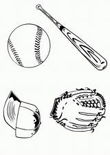 Coloring Baseball Glove Popular Clipart Library Template sketch template