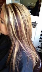 Blonde highlights with red lowlights. Hair By: Krystie ...