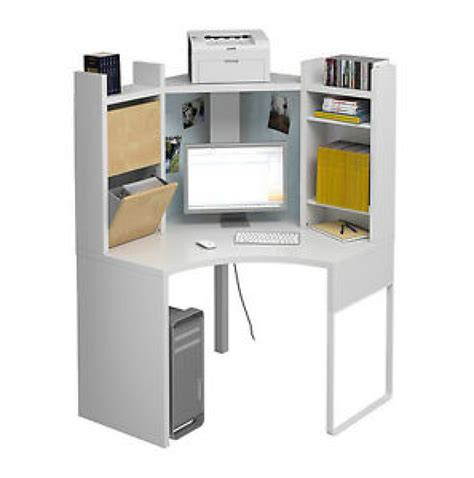 bureau en coin ikea blanc collection micke mobilier bureau