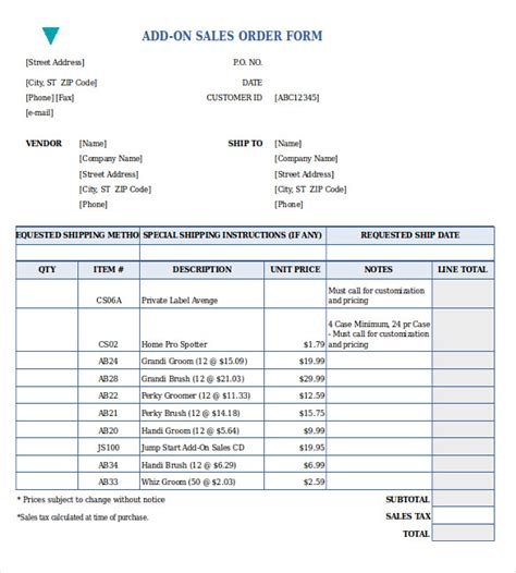 26+ Sales Order Templates  Free Sample, Example, Format