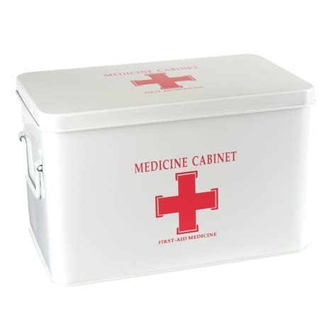 Medications Box 315x190x210mm Red/White Medicine First Aid