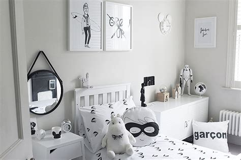 Jonnie's Monochrome Boy's Bedroom  Rock My Family Blog