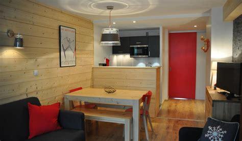 amenagement cuisine studio montagne décoration appartement de montagne