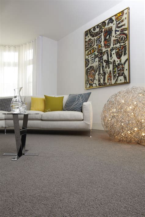 Black And Gray Living Room Carpet by Grey Wool Carpet Creates A Base For Bright