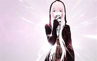 Luka Megurine Zerochan Vocaloid Anime Microphone Wallpapers