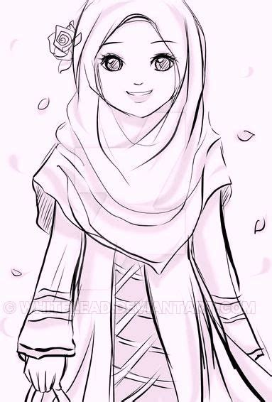islamic muslima wears hijab coloring pages coloring