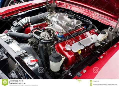 cobra motorsport 2002 ford mustang cobra engine stock photo image 13099432