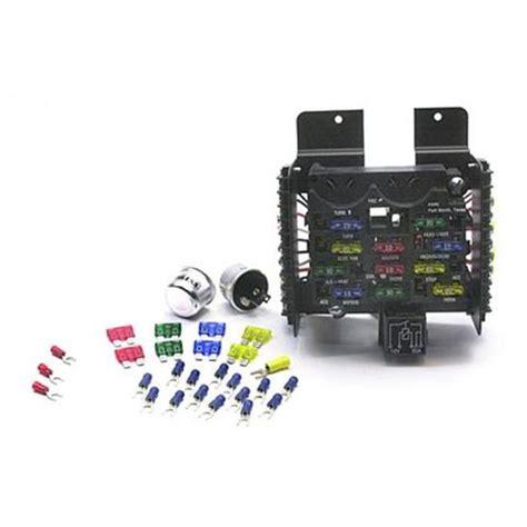 painless wiring 30001 universal 14 circuit fuse block free shipping speedway motors