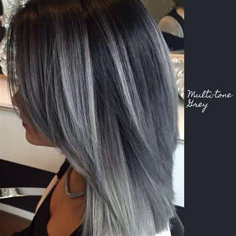 Toned Hair by Multi Toned Hair Colour Hair Hair Charcoal Hair