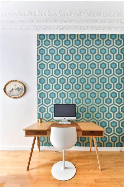 papier peint bureau ordinateur le papier peint réinvente votre pièce deco maison