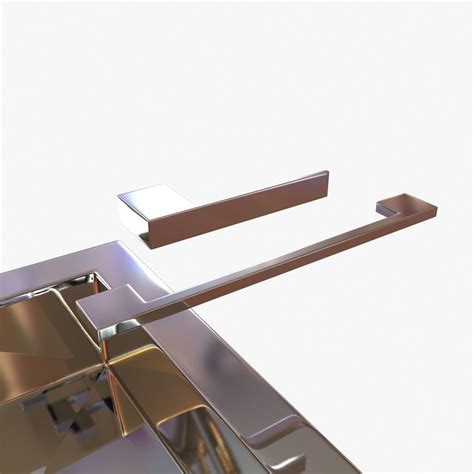 Kitchen Handles 3d Model by Kwc Single Lever Mixer And Door Handle And Cabinet Pull 3d