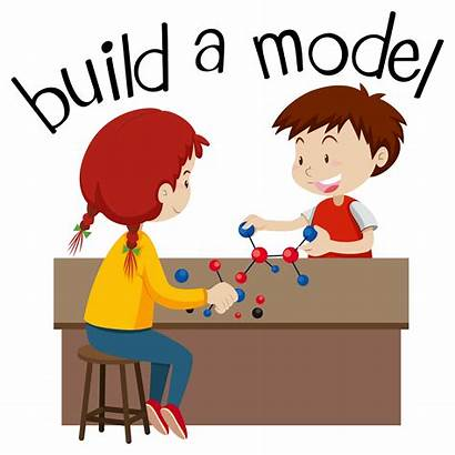 Playing Build Vector Clipart Wordcard