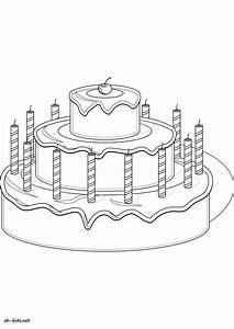 Dessin Gateau Anniversaire : luxe image gateau anniversaire a imprimer ~ Melissatoandfro.com Idées de Décoration