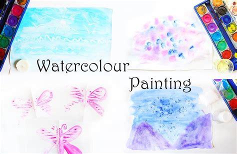 ideen zum malen mit wasserfarben fuer kinder video mama kreativ