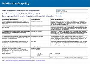 Hse Health And Safety Policy Template 240214 Health And Safety Policy Risk Assessment UIVORY WORLD
