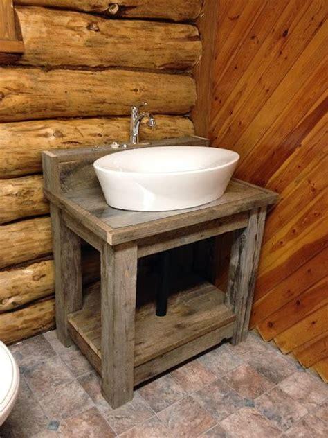 reclaimed wood bathroom vanity ideas  pinterest reclaimed wood vanity subway tile