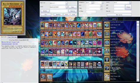 yugioh deck tester program ygopro features