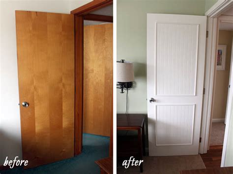 Beadboard Doors : Smart Idea! Dress Up Flat Hollow Core Doors With Beadboard