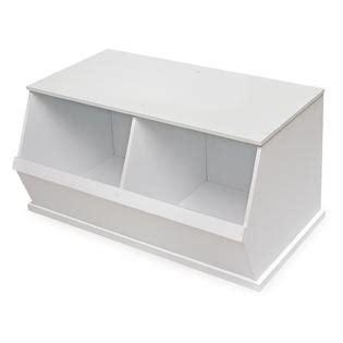 badger basket storage badger basket two bin storage cubby white 4262