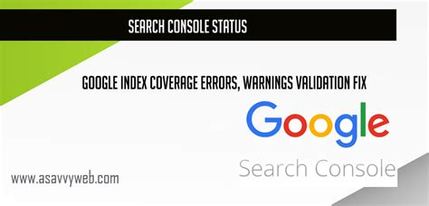 Search Console Status Google Index Coverage Errors