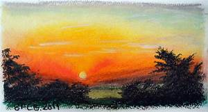 Oil Pastel sunset | Inspiration oil Pastel | Pinterest ...